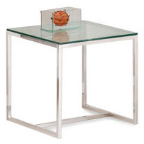 Mesa de canto vidro