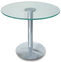Mesa de canto em vidro redonda