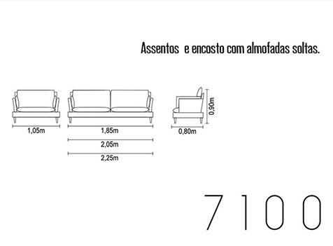 Sofá fixo para escritório e ambientes 7100 medidas